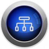 Network button — Stock Vector