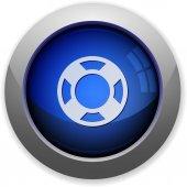 Lifesaver button — Stock Vector