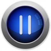 Media pause button — Stock Vector