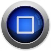 Media stop button — Stock Vector