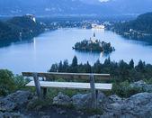 Bled Lake in Julian Alps, Slovenia — Stock Photo