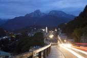 Berchtesgaden at night — Stock Photo