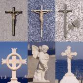 Religion cross set — Stock Photo