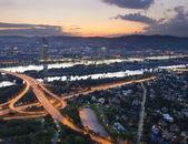 Wiener stadtbild bei nacht — Stockfoto
