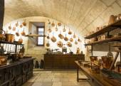 Chenonceaux castle interior, view of kitchen — 图库照片