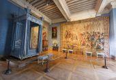 Interior room of Chambord castle, France — Stock Photo