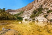 Lake in a rocky canyon  — Stock Photo