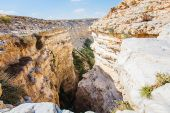 Landscape of the gorge in the Negev desert  — Stock Photo