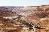 Negev desert landscape with road  — Stock Photo