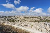 Panorama of the old city of Jerusalem — Stock Photo