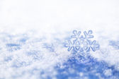 Snowflake christmas decoration — Stock Photo