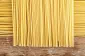 Spaghetti posted on the a row  — Stock Photo