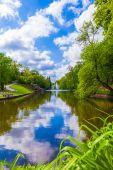 Landscape lake with a reflection  — Stok fotoğraf