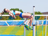 Competitions on high jump — Stock Photo