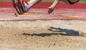 Athletics competitions in long jump  — Stock Photo