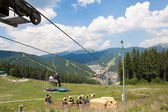 Chair lift — Stock Photo