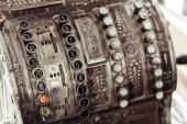 Cash register close-up — Stock Photo