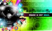 PArty Club Flyer for Music event with Explosion of colors — Vector de stock
