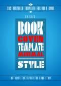 Minimal modern book cover template  — Stock Vector