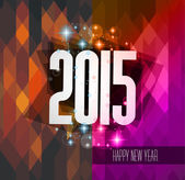 Original 2015 happy new year hipster background  — Stock Vector