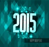 Original 2015 happy new year modern background — Stockvektor