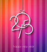 Original 2015 happy new year — Stock Vector
