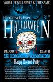 Flyer de fiesta halloween horror — Vector de stock