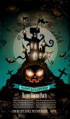 Halloween Party Flyer — Stock Vector