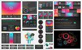 UI flat design web elements — Vecteur
