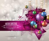 Christmas original modern background template — Stock Vector
