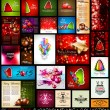 Christmas background collection set — Stock Vector #56179035