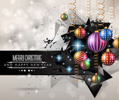 New Year and Christmas background — Stock Vector