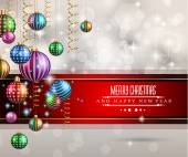 2015 New Year and Happy Christmas background — Stock Vector