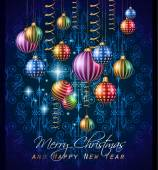2015 New Year and Happy Christmas background for your flyers — Stock Vector