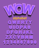 Alphabet Font to use for children's parties invitations — Stock Vector