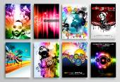 Set of Club Flyer design, Party poster templates — Vettoriale Stock