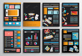 Set of Flyer Design — Stockvektor