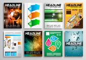 Set of Flyer Design, Web Templates — Stockvector