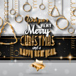 New Year and Merry Christmas background — Stock Vector #59119257