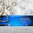 New Year and Merry Christmas background — Stock Vector #59119883
