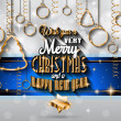 New Year and Merry Christmas background — Stock Vector #59120933