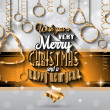 New Year and Merry Christmas background — Stock Vector #59122125