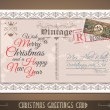 Vintage Postacard for Christmas greetings cards — Stock Vector #59439301