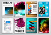 Set of Flyer Design, Web Templates — Stock Vector