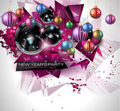 New Year's Party Flyer design — Stockvector