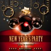New Year's Party Flyer design — Stock Vector