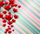 Valentin fond avec coeurs — Vecteur