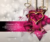 San Valentines Day background — Stock Vector