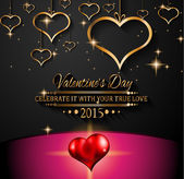 Valentines Day background — Stock Vector