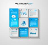Infographic layout for data display — Stock Vector